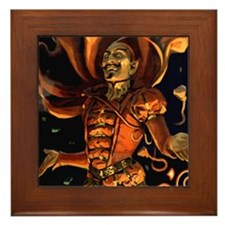 Halloween Magic Devil Postcard Art Framed Tile