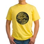 Living With Nature Quote Yellow T-Shirt