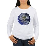 Living With Nature Quote Women's Long Sleeve T-Shi