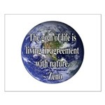Living With Nature Quote Small Poster