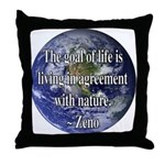 Living With Nature Quote Throw Pillow