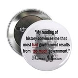 Thomas Jefferson Bad Governme Button