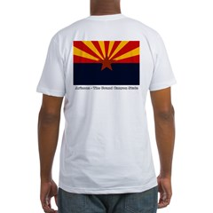 Arizona State Flag Fitted T-Shirt