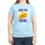 Jews for Cheeses Women's Pink T-Shirt