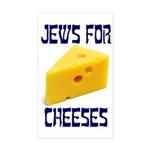 Jews for Cheeses Rectangle Sticker
