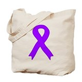 Violet Ribbon Tote Bag