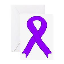 Violet Ribbon Greeting Card
