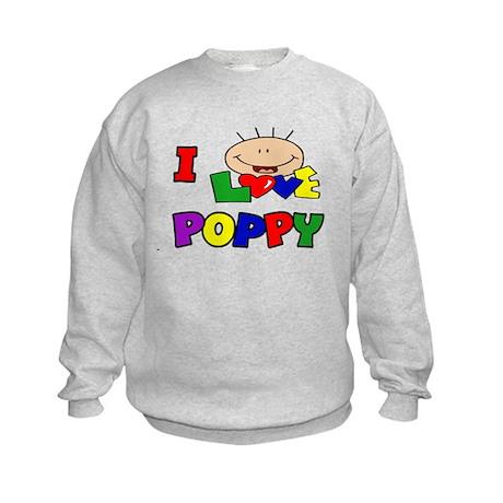 I Love Poppy CUTE Kids Sweatshirt