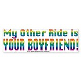 My Other Ride is Your Boyfriend Bumper Car Sticker