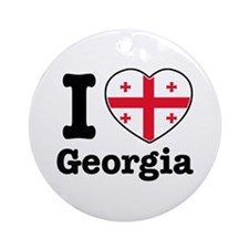 I love Georgia Ornament (Round)