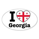 I love Georgia Oval Decal
