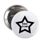 Rock Star Black 2.25&quot; Button (10 pack)