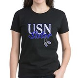 USN Sister Dog Tag Tee