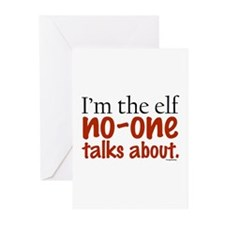 No Talk Elf Greeting Cards (Pk of 10)