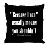 Moral Compass/black Throw Pillow