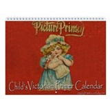 Antique Victorian Child's Primer Calendar