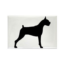 Boxer Dog Rectangle Magnet (10 pack)