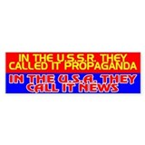 USSR PROPAGANDA = USA NEWS - Bumper Bumper Sticker