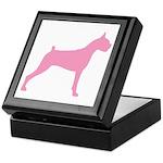 Pink Boxer Dog Keepsake Box