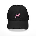 Pink Boxer Dog Black Cap