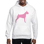 Pink Boxer Dog Hooded Sweatshirt