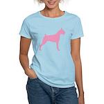 Pink Boxer Dog Women's Light T-Shirt
