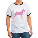 Pink Boxer Dog Ringer T