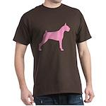 Pink Boxer Dog Dark T-Shirt
