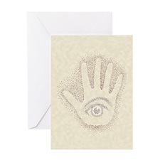 Earthtone Petro EyeHand Greeting Card