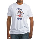 NH Center Of Attention Great Dane Fitted T-Shirt