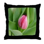 Pink Tulip Bud - Throw Pillow