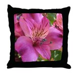 Pink Alstromeria - Throw Pillow