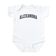ALEXANDRA (curve) Infant Bodysuit