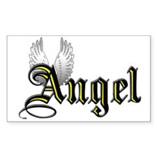 Angel Rectangle Decal