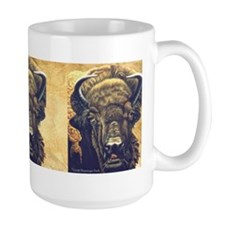 Buffalo Eating Mug