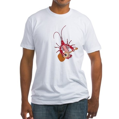 Crayfish Guitarist Fitted T-Shirt