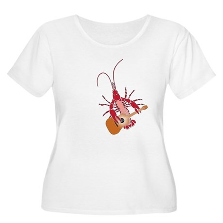 Crayfish Guitarist Women's Plus Size Scoop Neck T-