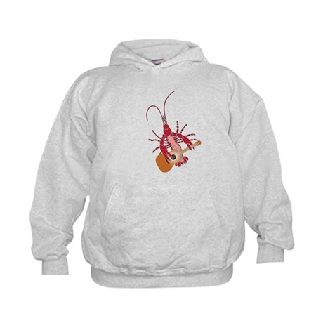 Crayfish Guitarist Kids Hoodie