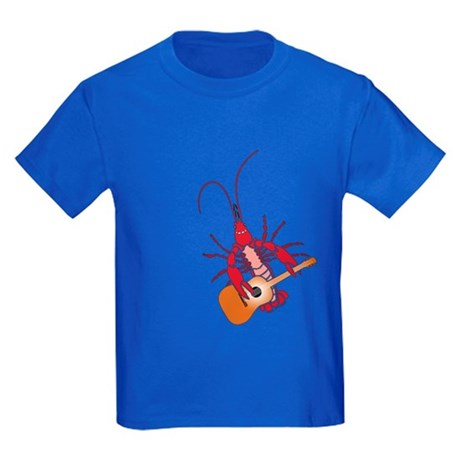 Crayfish Guitarist Kids Dark T-Shirt