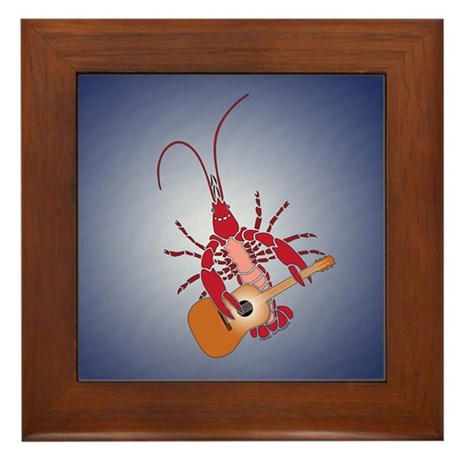 Crayfish Guitarist Framed Tile