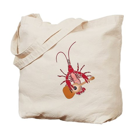 Crayfish Guitarist Tote Bag