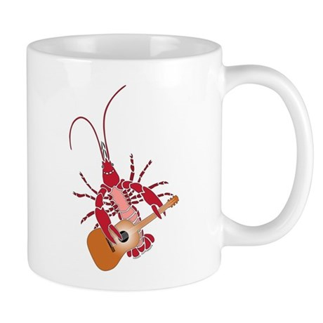 Crayfish Guitarist Mug