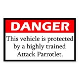 Danger Attack Parrotlet Decal