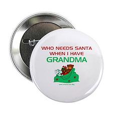 """Santa Grandma 2.25"""" Button (10 pack)"""
