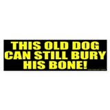 This Old Dog Bumper Car Sticker