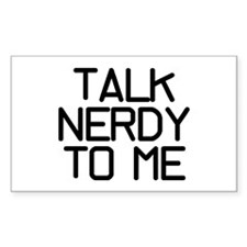 Talk Nerdy Stickers