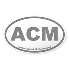 Arnold Chiari Malformation Oval Decal