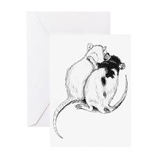Rat Hug Greeting Card