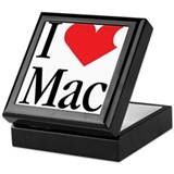 I Love Mac heart products Keepsake Box