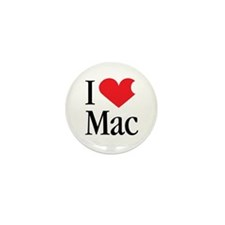 I Love Mac heart products Mini Button (10 pack)